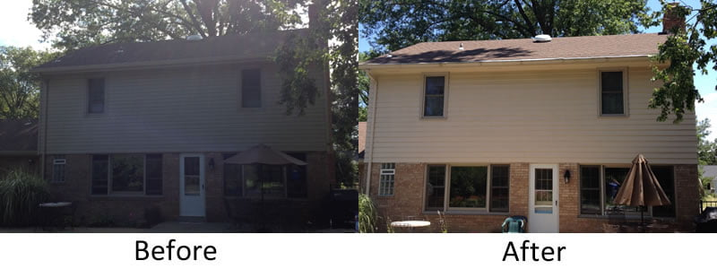 Before And After Siding Replacement Windows Doors And