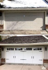 Garage Door Before And After 3 Replacement Windows