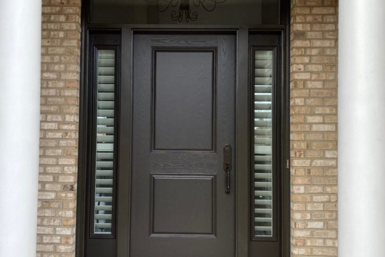Chris and Kim Huston of West Chester Are Very Happy With Their New Provia Front Door System with Transom and Sidelights! See Pics…